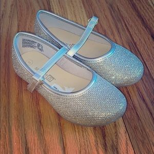 Silver and Gold Sparkly Flats!